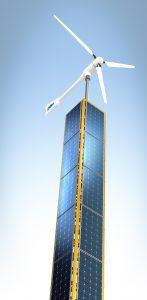 Ganzjährige Energieerzeugung mit einem Hybrid-Energieturm